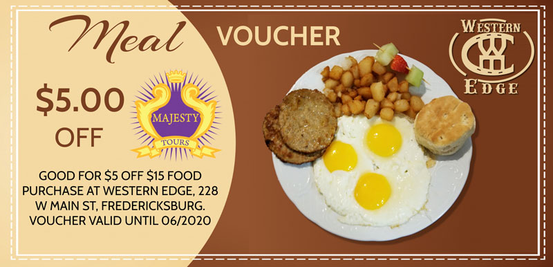 Western Edge $5 Meal Voucher