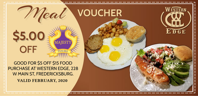 Western Edge $5 Meal Voucher